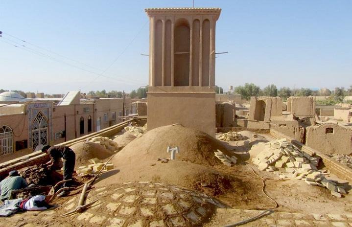 بازسازی مسجد تاریخی سرحوض با مشارکت دوستداران میراث فرهنگی اشکذر