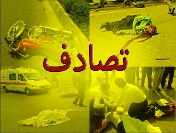 یک فوتی و 5 مصدوم در تصادف اتوبان زنجان - قزوین