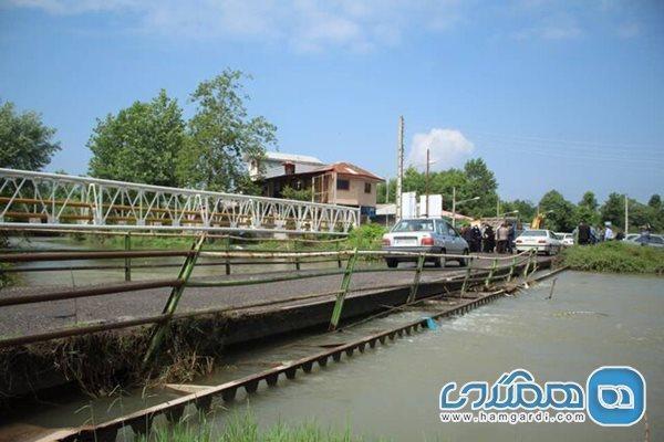 عملیات اجرایی پروژه بازسازی پل خمام رود سنگر آغاز شد