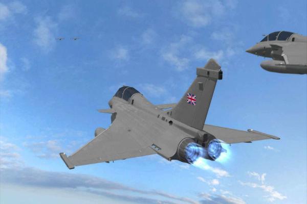 پرواز جنگنده انگلیسی بر فراز کشتی های روسی در مدیترانه