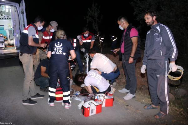 تصادف اتوبوس حامل مهاجران غیرقانونی در وان ترکیه